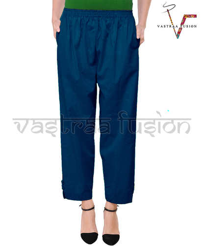 Ladies Ankle Length Cotton Pants