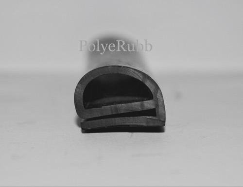 Polyrub Black EPDM E Sections
