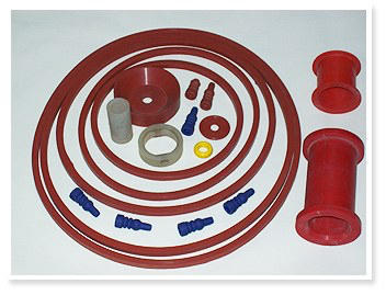 PolyeRubb Red Silicone Rubber Moulded Products