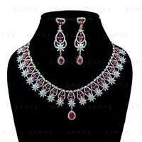 Immitation Jewellery AD Necklace Set