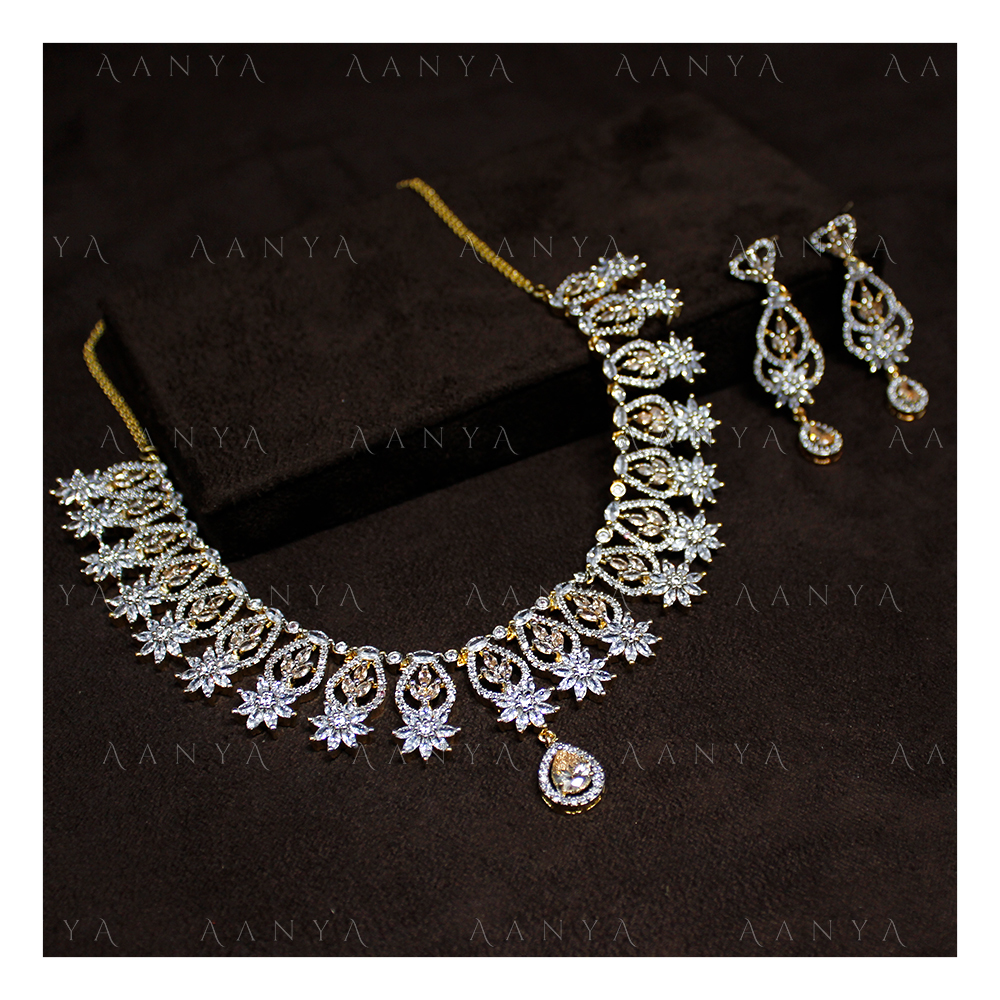 Latest Design AD Necklace Set