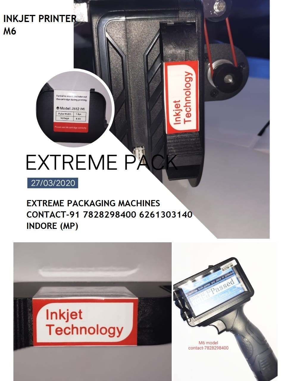 High Resolution Handy Inkjet Printer Machine