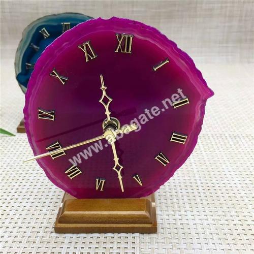 Agate Clock Pink