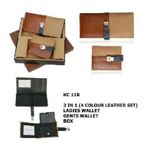 gent's and ladies leather wallet