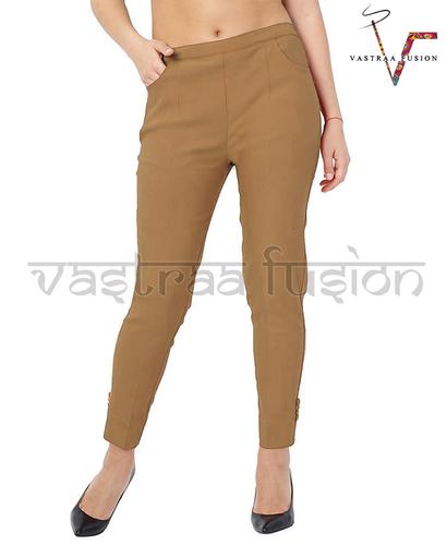 Ladies Ankle Lycra Pants