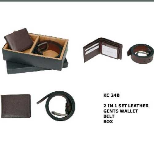 leather wallet and balts