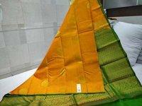 Pure Silk Thunread Soft Silk Saree Masted With Green
