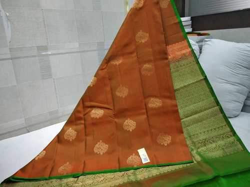 Pure Kanchipuram Thunread Silk Saree