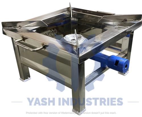 12 x 12 Stainless steel Gas Bhatti