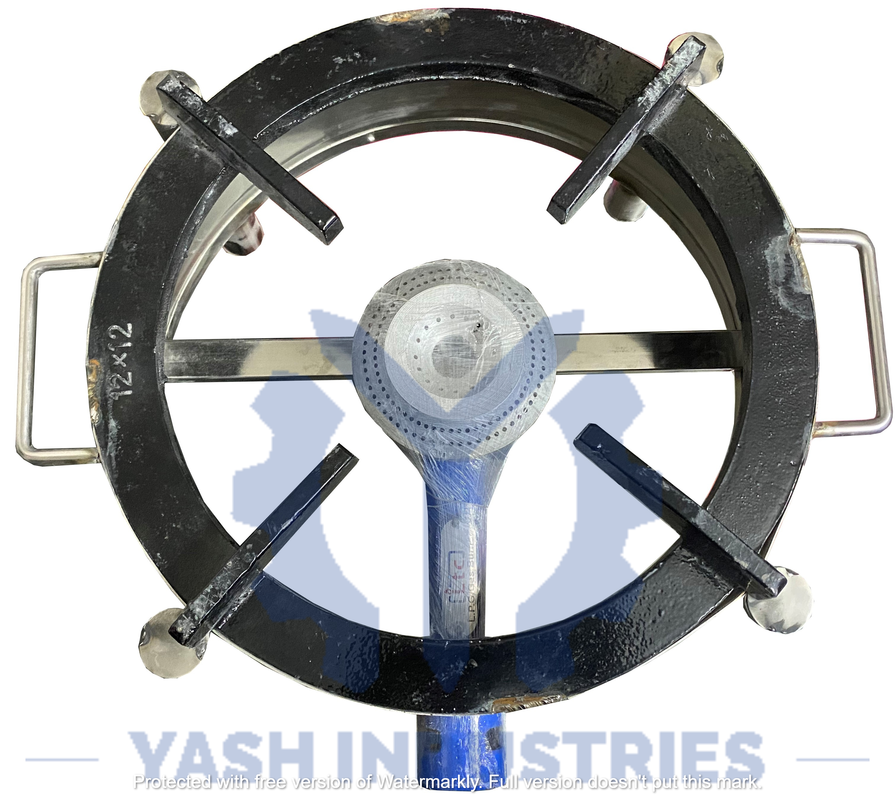 12 x 12 Stainless steel Gas Bhatti Round
