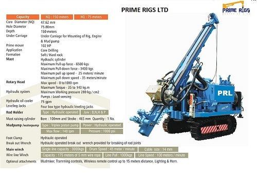 Hard Rock Core Drilling Rig