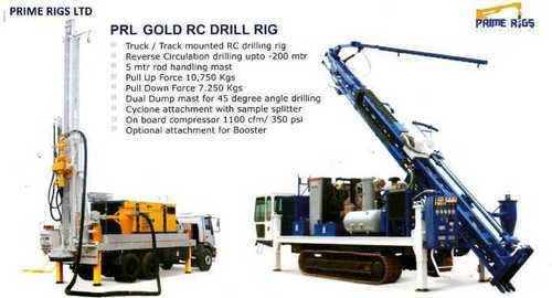 Deep rock blast hole hydraulic rock drilling rig
