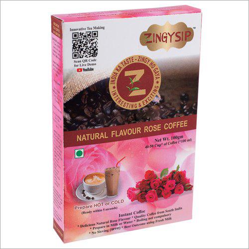 Organic 100 Gm Zingysip Instant Rose Coffee
