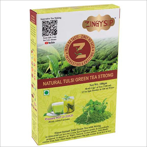 100 gm Zingysip Strong Green Tea Strong