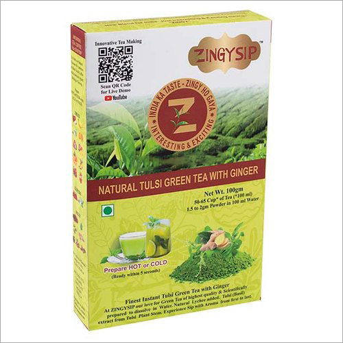 100 gm Zingysip Green Tea With Tulsi And Ginger