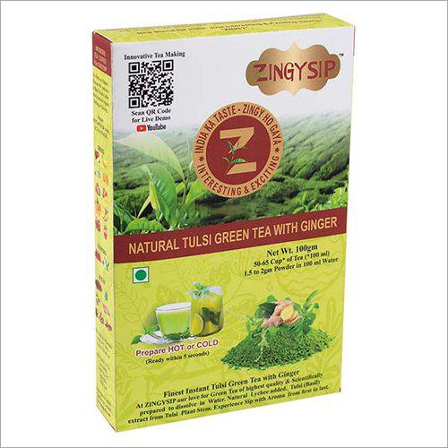 100 gm Zingysip Green Tea With Tulsi And Ginger