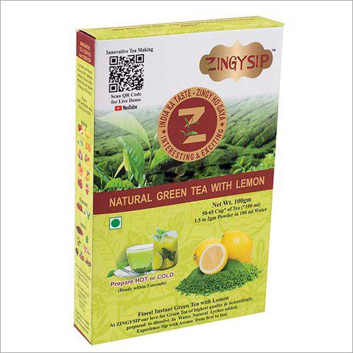 100 gm Zingysip Natural Green Tea With Lemon