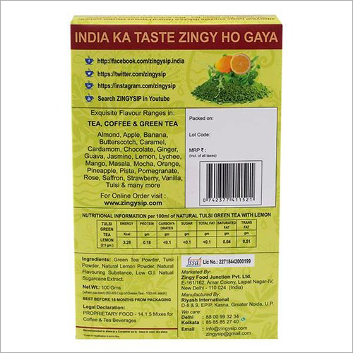 100 gm Zingysip Green Tea With Tulsi And Lemon