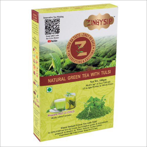 100 gm Zingysip Natural Green Tea With Tulsi (Basil)
