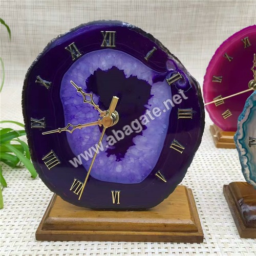 Agate Clock Purple