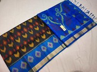 Pure kanchipuram double warp ikkat soft silk