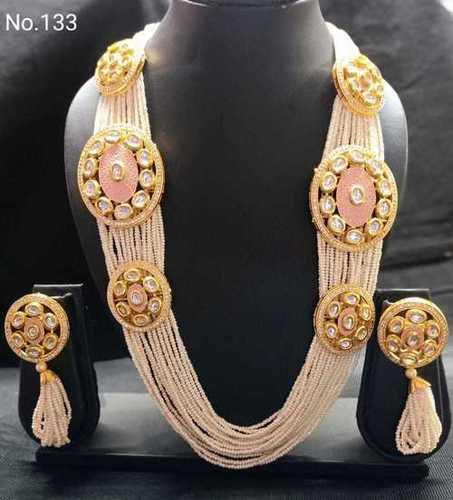 Moti Cut Rani Long Necklace Set