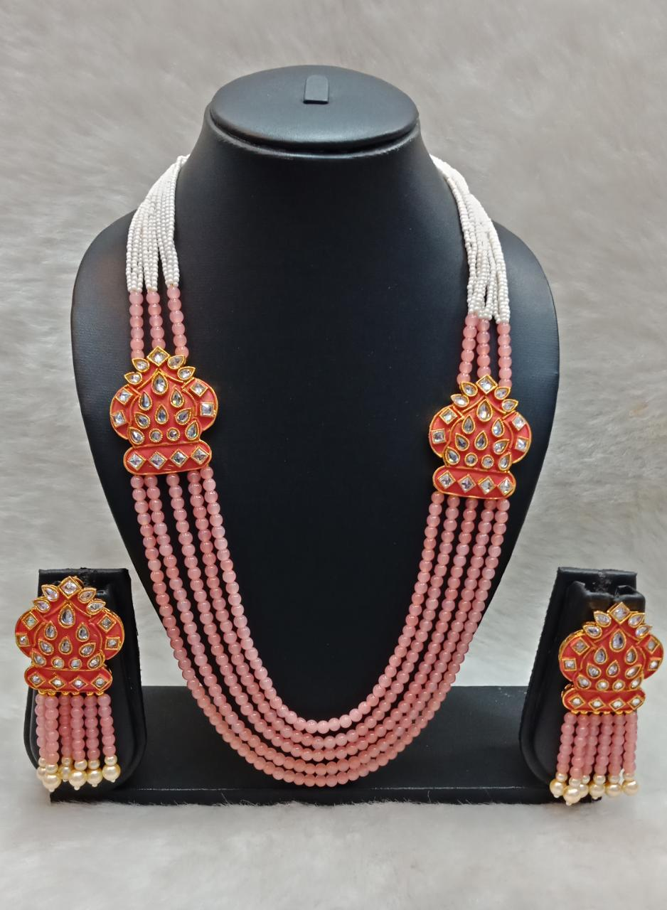 Crystal Long Necklace Set