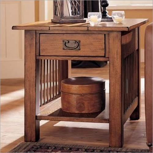 Sheesham and Teak Wood Storage Side Table