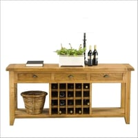 Wooden Storage Console Table