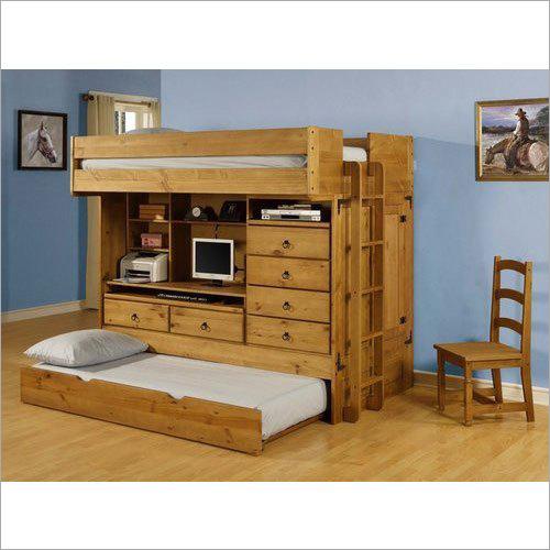 Wooden Storage Bunk Bed