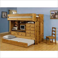 Wooden Storage Bunk Bed