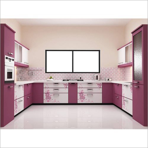 C Shaped Modular Kitchen