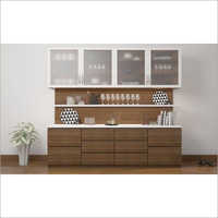Kitchen Wall Mounted Wooden Crockery Unit