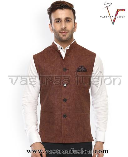 Men Plain Party Wear Galabandh Jacket