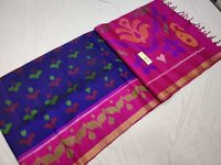 Pure Ikkat Silk Double Warp