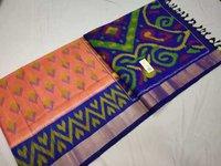 Pure Ikkat Silk Saree Multi Design