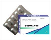 Carbonyl Iron , Vitamin C ,folic acid, Cyanocobalamin ,Zinc Sulphate Capsule