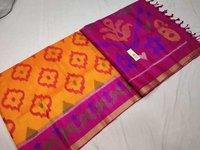 Pure Silk Soft Ikkat Saree