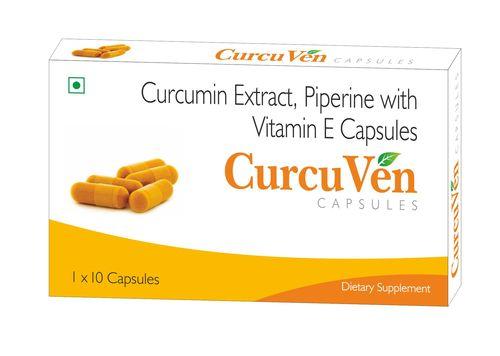 Curcumin Extract, Piperine With Vitamin E Capsules