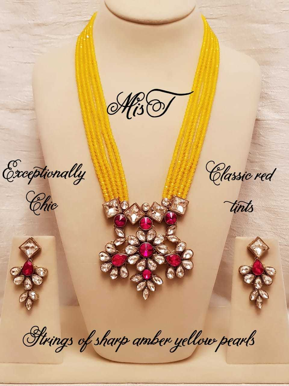 Kundan Pendant Rani Necklace Set