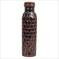 Black Diamond Cut Copper Bottle