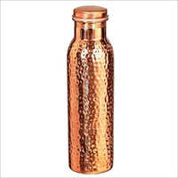 Pure Copper Hammered Bottle