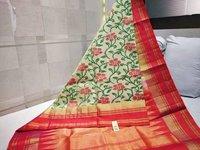 Pure ikkat soft silk sarees