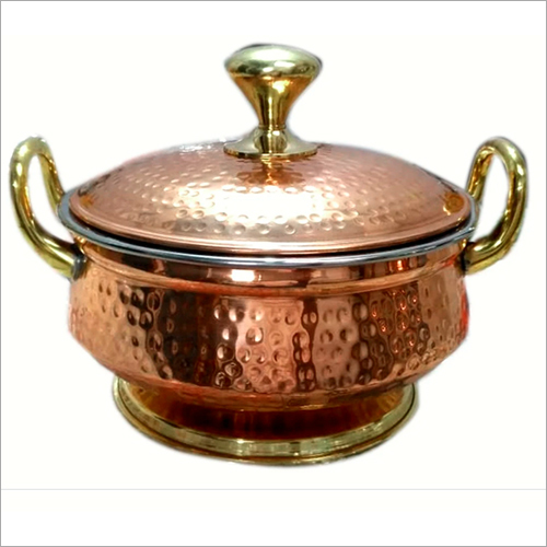 Mughlai Copper Handi With Copper LID and Handle
