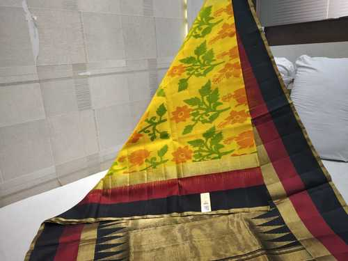 pure silk ikkat with border