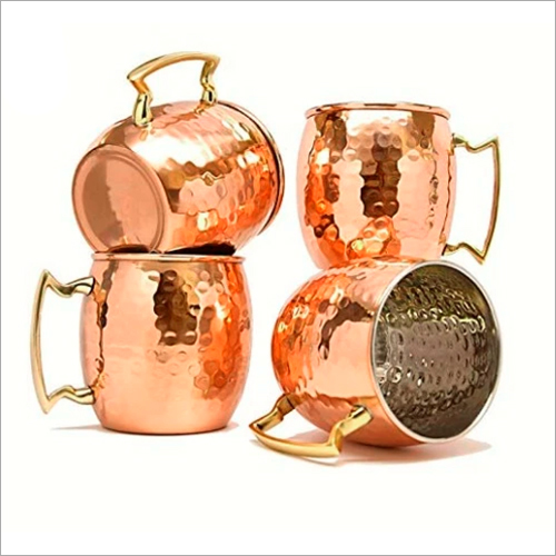 Hammered Copper Mule Mug Set