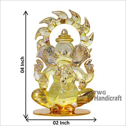 Ganesha Crystal Showpieces Car Dashboard Statues