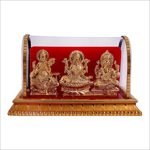 Lord Ganesh Laxmi Saraswati Cabinet Idol