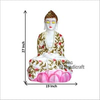 Marble Look Decorative Buddha Statue