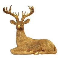 Antique Polyresin Look Deer Statue